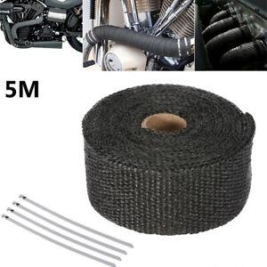 5M-Car-Motorbike-Exhaust-Manifolds-Glass-Fiber-Thermal-Heat-Insulation-Tape-Kits