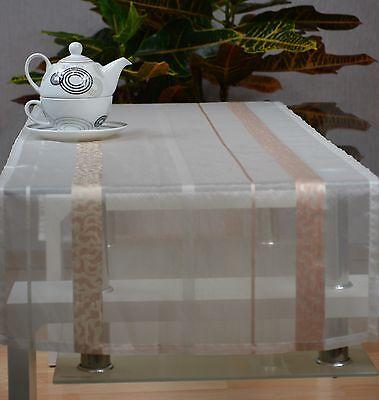 Tischläufer Poros Tischband Läufer Transparent 45 x 145 cm Hellrosa
