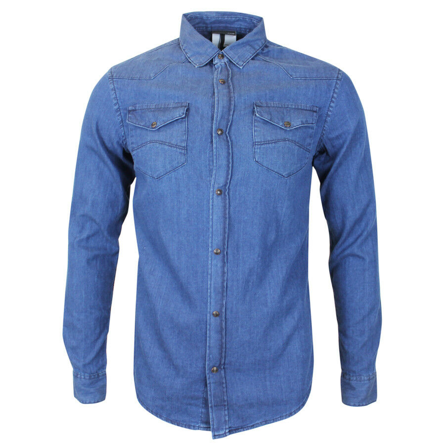 Emporio Armani bluee Denim Shirt MEDIUM NEW WITH TAGS RRP