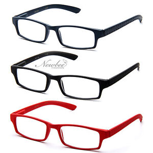 Reading-Glasses-Rectangle-Slim-Style-Readers-Spring-Temple-Comfortable-Fit-Unise