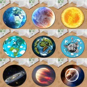 Space-Star-Earth-Design-Round-Floor-Mat-Rug-Living-Room-Bedroom-Carpet-Area-Rugs