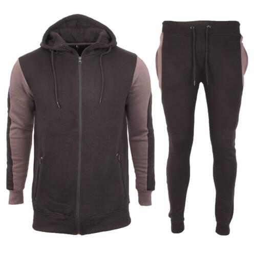 UK New Men/'s Foundation Fleece Hooded Sports Jogging full Tracksuit Top /& Bottom
