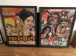 image is loading 2 vintage retro original framed bollywood movie posters - Movie Posters Framed