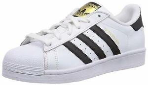 Adidas-Mens-Superstar-Leather-Low-Top-White-Core-Black-White-Size-19-M-US-Mens