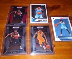 Ja-Morant-5-Card-Rookie-Lot-Panini-Draft-Pink-Prizm-Hoops-RC-Donruss-Rated-RC