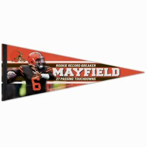 BAKER-MAYFIELD-LIMITED-EDITION-CLEVELAND-BROWNS-ROOKIE-RECORD-BREAKER-PENNANT