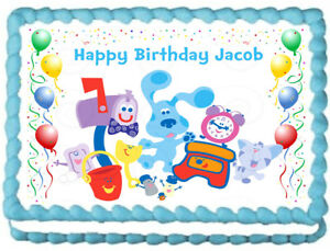Excellent Blues Clues Party Edible Cake Topper Image Ebay Personalised Birthday Cards Fashionlily Jamesorg