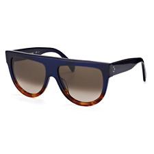 eca745b1551 Celine Shadow Sunglasses Blue Havana Frame Brown Gradient Lens CL41026 S  QLT Z3