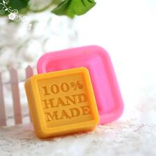 Neu Quadratische Silikon Seifen Form Mould DIY Hand Made Soap Molds