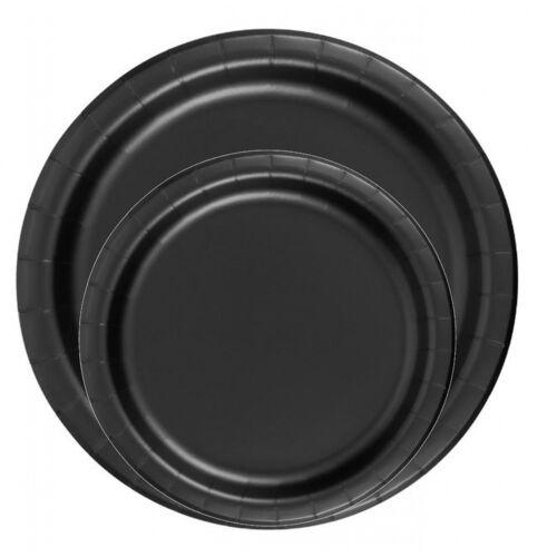 "Black 6 7//8/"" Dessert Paper Plates 24 Per Pack heavy duty"