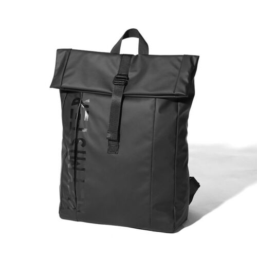 Rucksack Damen Herren Roll Top Rucksack Laptop Schultasche Uni Wasserabweisend