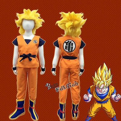 Dragon Ball Cosplay Son Goku Kostüm Turtle Wort Leistungskleidung für Kinder NEU