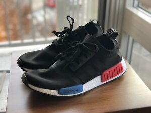 Adidas NMD PK Primeknit OG Black Blue Red Mens size 10.5
