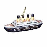 Kurt Adler 5-inch Noble Gems Glass Titanic Ornament , New, Free Shipping on sale