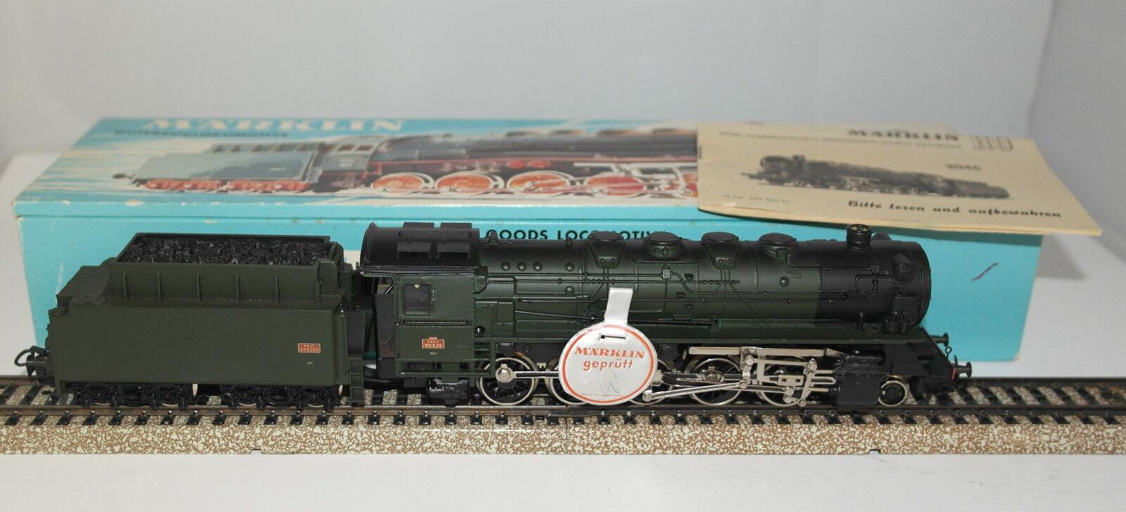 MARKLIN H0   3046 loco con tender SNCF BR 150X ottima in or. Box TOP   anno 1965