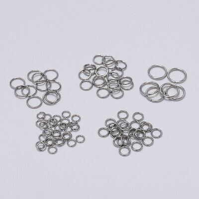200Pcs Stainless Steel Open Jump Rings Split Rings Connector for Jewelry Making
