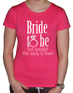 Funny Bride T Shirt Bride To Be Funny Ladies Women Hen