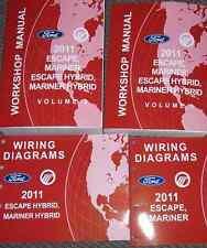 2011 Ford Escape Mercury Mariner & Hybrid Service Shop Repair Manual SET W EWD