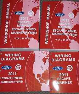 2011 ford escape mercury mariner hybrid service shop repair manual rh ebay com