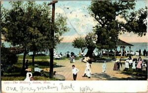 1907-SALEM-MASS-THE-WILLOWS-ACTIVITY-GROUNDS-POSTCARD-EE9