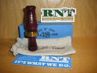 Rnt Rich-n-tone Short Barrel Mallard Duck Call Black Cherry 40th Anniversary
