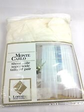 Antique Ivory Lorraine Home Fashions Monte Carlo Super Wide Tailored Window Panel 120-Inch by 63-Inch Set of 2