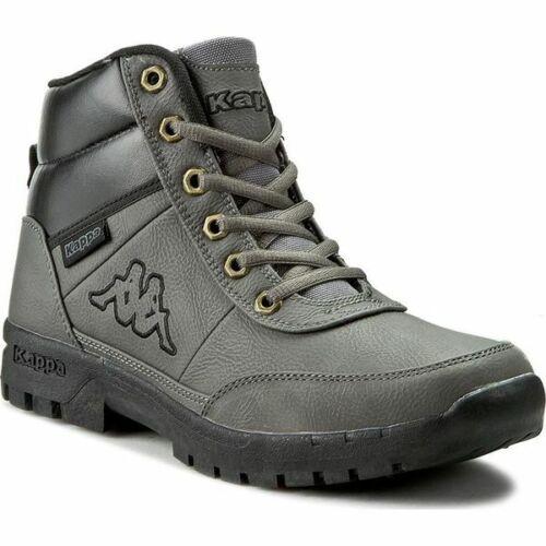 Scarponcini scarpa uomo Kappa Bright Mid Grigio Pelle 946 Antipioggia invernale