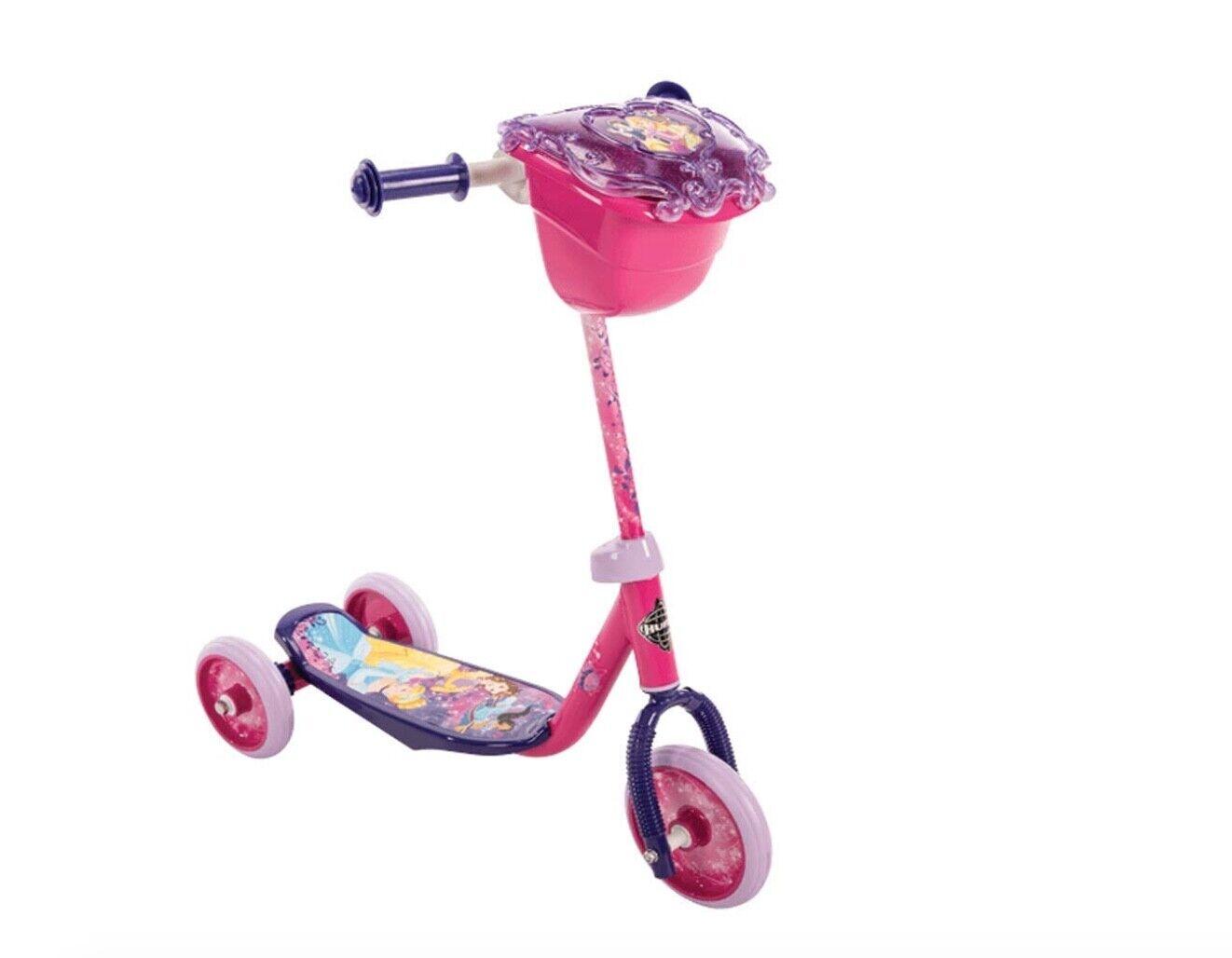 Huffy Disney Princess Girls Kids Toddler 3 Wheel Scooter With Basket For Sale Online Ebay