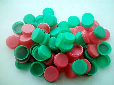 100 Large Dark Mid Blue Plastic Bottle Tops Lids For arts and crafts projects