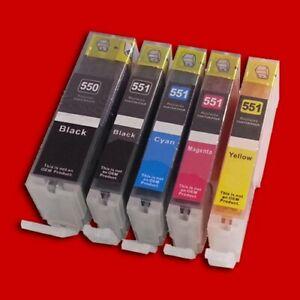 10-Cartucce-con-Chip-per-Canon-PGI-550BK-CLI-551BK-CLI-551C-CLI-551M-CLI-55