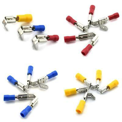 DZS Elec 30pcs A.W.G 12-10 16-14 22-16 Crimp Connector Kit PVC Semi-Insulated Piggy Back Spade Quick Splice Male//Female Wire Terminals