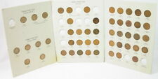1857 1909 Flying Eagle Indian Head Cent Folder Partial Set Coins 291270