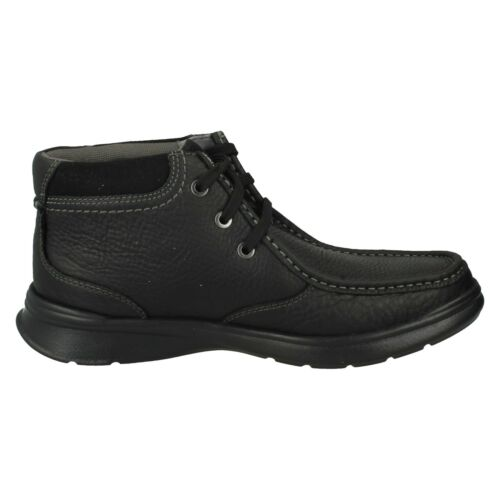 MENS CLARKS LEATHER LACE UP CASUAL COMFORTABLE ANKLE BOOTS COTRELL TOP SIZES