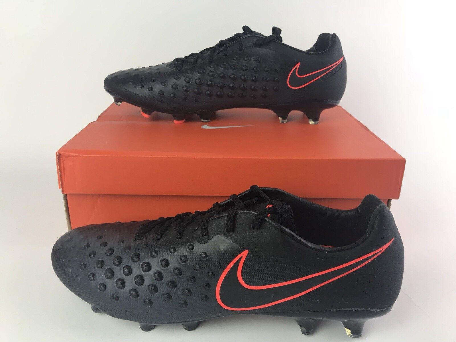 Nike Magista Opus II FG Soccer Cleats Black Orange 843813-008 Size 9 E5 403