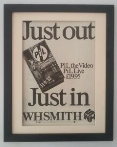 PiL-Live-1983-ORIGINAL-POSTER-AD-QUALITY-FRAMED-FAST-WORLD-SHIP