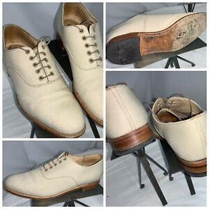 E-T-Wright-Masters-Leather-Oxford-Shoes-10-5-B-Ivory-Lace-England-YGI-K0S-42