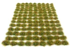 x117-Rough-grass-tufts-6mm-Self-adhesive-static-model-wargames-scenery