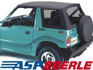 Verdeck-Softtop-Ersatzverdeck-Top-Suzuki-Vitara-88-04-Cabrio-Dach-schwarz-Nero