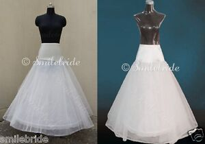 Standard Plus Size 1 Hoop A Line Wedding Gown Crinoline Petticoat Underskirt