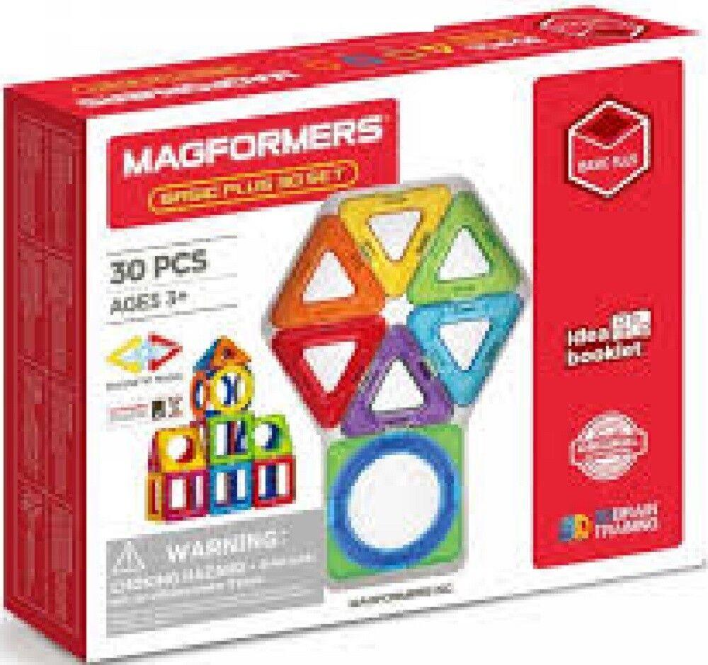 Magformers Basic Plus Magnetic Construction 30 Piece Set