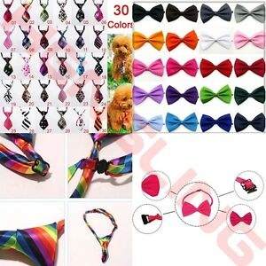 Wholesale Pet Dog Cat Puppy Necktie Bow Tie Ties Collar Grooming Out 10/30/50Pcs