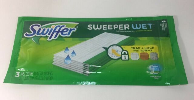 Window Fresh Gain Swiffer Sweeper Wet Mopping Cloth Refills Lavender Vanilla