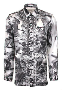 selezione premium 2f9b8 4e949 Details about VERSACE Collection Silk Shirt Mens Silk Shirt Men Baroque  Size 38-39-42-43 - 44- show original title