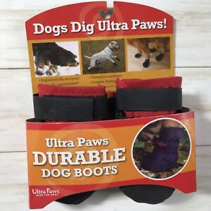 Ultra Paws Durable Dog Boots Shoes-Black