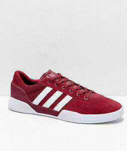2019-NIB-MENS-ADIDAS-CITY-CUP-SKATER-SHOE-9-Burgundy-White-low-top