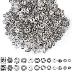 50-100X-Tibetan-Silver-Metal-Charms-Loose-Spacer-Beads-Wholesale-Jewelry-Making
