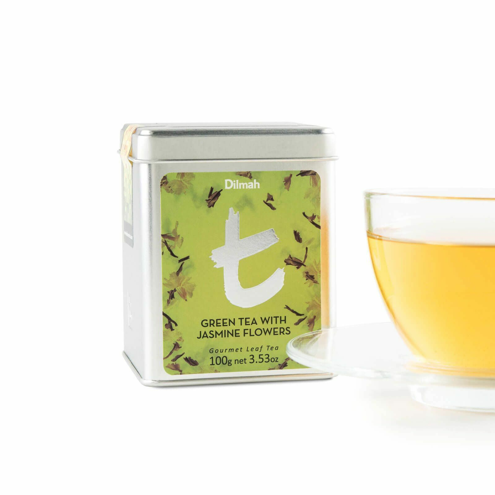 Dilmah green tea with jasmine flowers 100g ceylon loose leaf tea tin dilmah green tea with jasmine flowers 100g ceylon loose leaf tea tin caddi izmirmasajfo Images