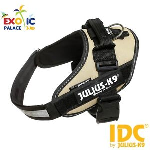 JULIUS-K9-IDC-POWERHARNESS-BEIGE-EARTH-PETTORINA-REGOLABILE-PER-CANE-IN-NYLON
