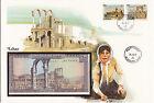 superbe enveloppe LIBAN LEBANON billet de banque 10 L UNC NEUF + TIMBRES