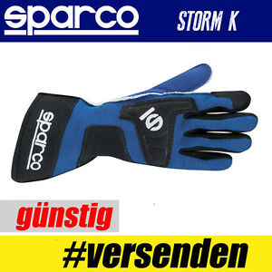 SPARCO-Karthandschuh-STORM-K-BLAU-Professionelle-Handschuhe